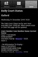 Screenshot of Court Search