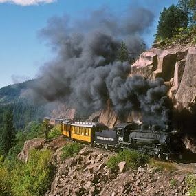 Durango & Silverton by Claes Wåhlin - Transportation Trains ( steam locomotive, d&rgw, colorado, durango & silverton, usa,  )