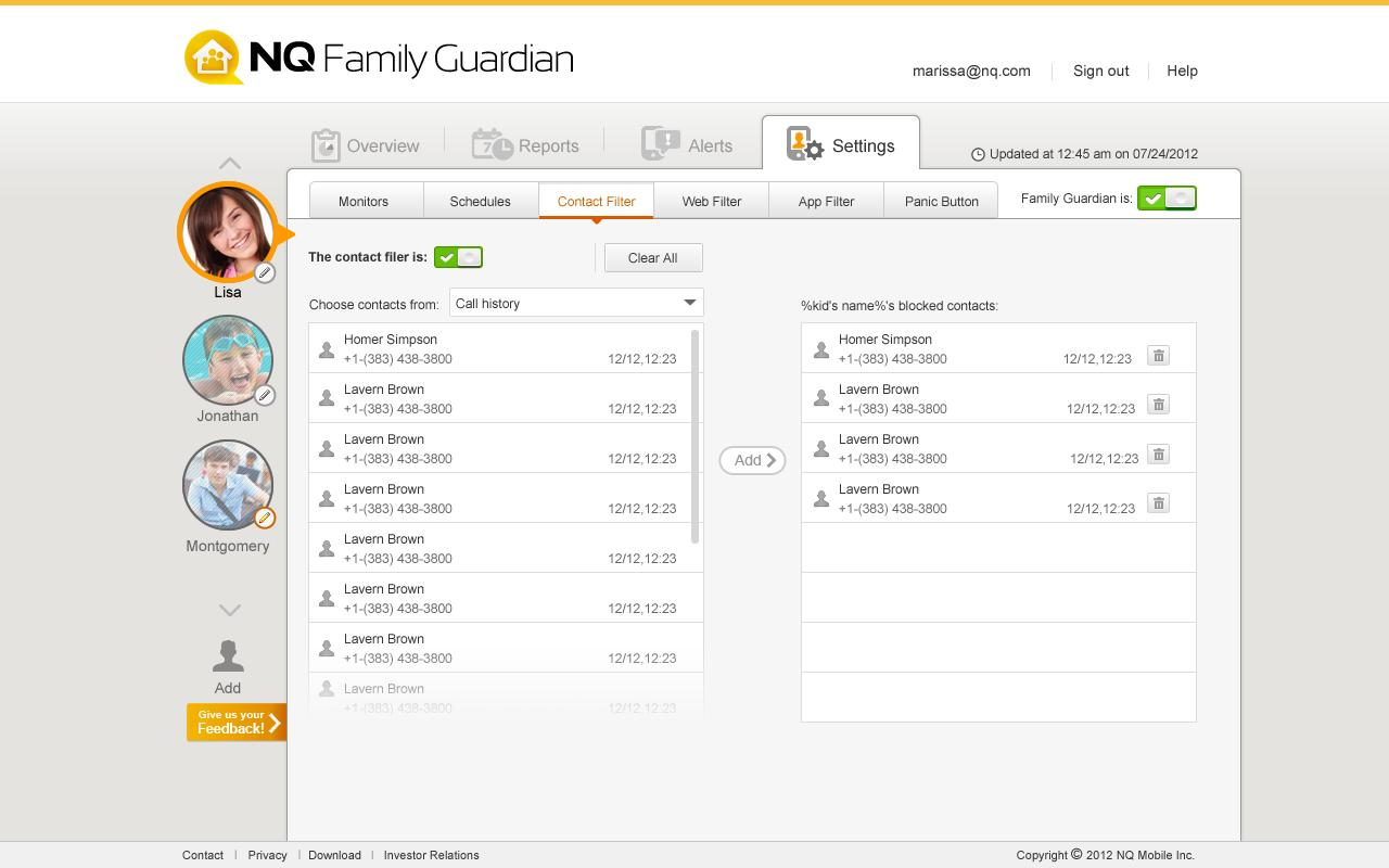 NQ Family Guardian - screenshot