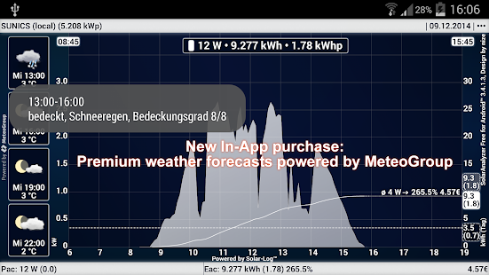 SolarAnalyzer Free f. Android™- screenshot thumbnail