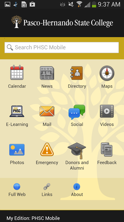 PHSC Mobile- screenshot
