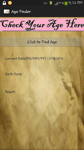 Age Finder