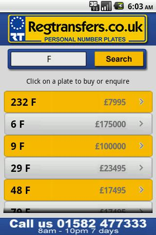 Number Plates Search- screenshot