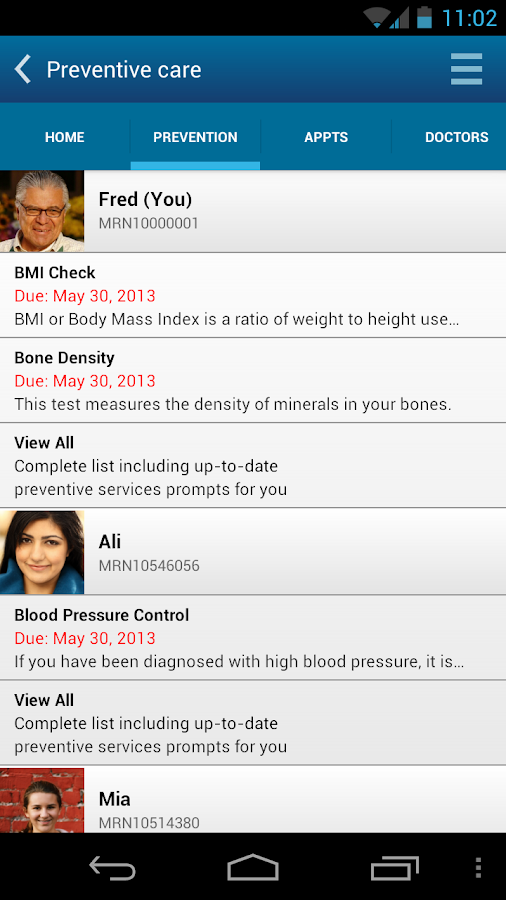 KP Preventive Care (NCAL only) - screenshot