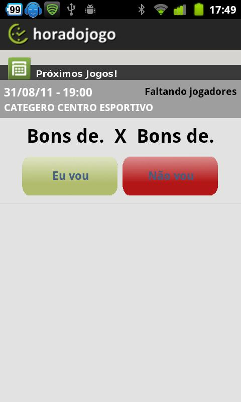 Hora do Jogo - screenshot