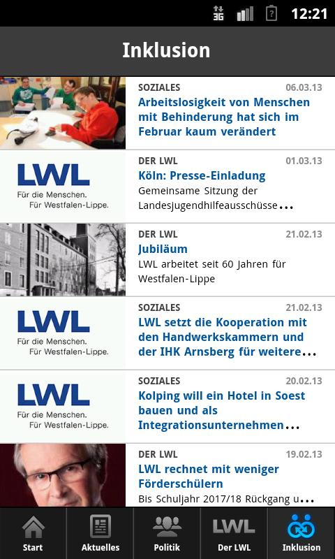 Der LWL- screenshot