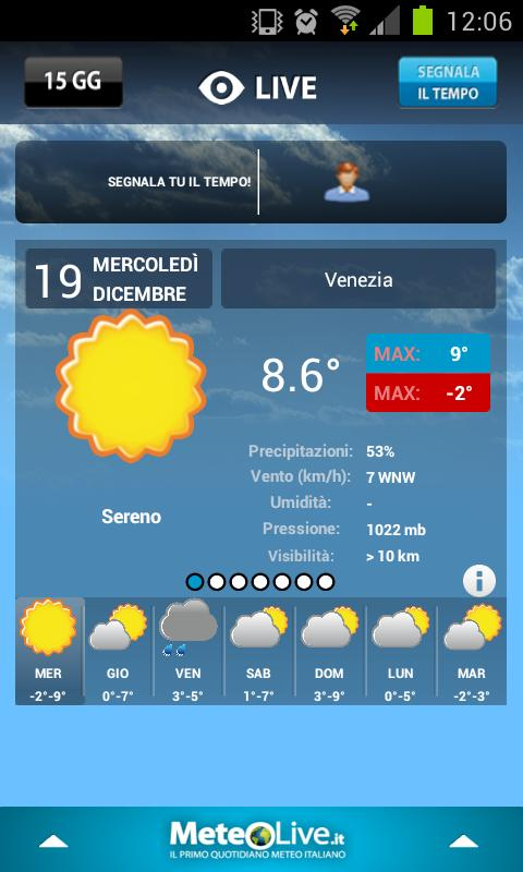 MeteoLive.it - screenshot