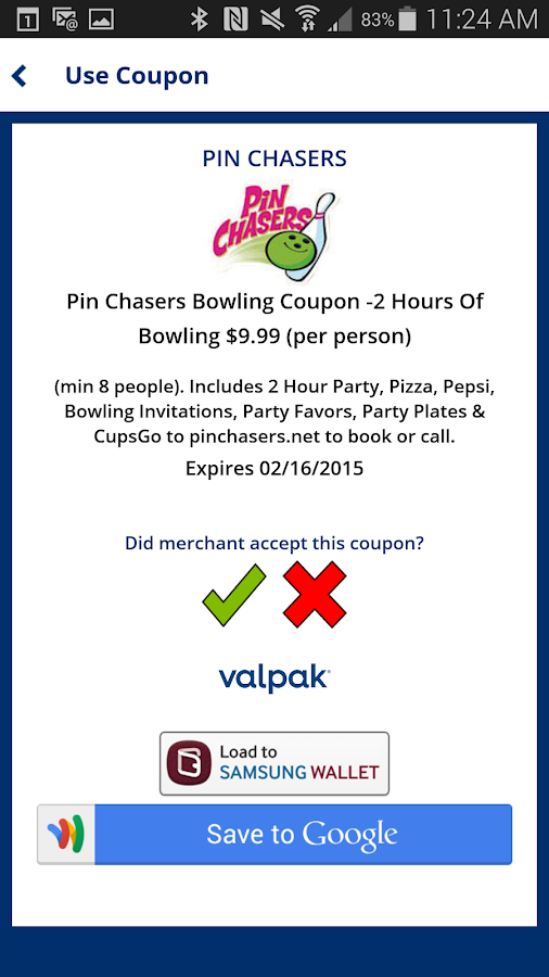 Valpak® Local Coupons - screenshot
