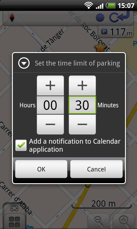 OsmAnd-Parking Plugin - screenshot