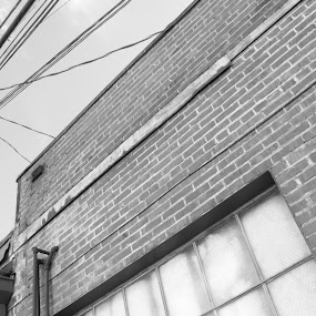 Moving Lines by Jordin Pierce - Buildings & Architecture Architectural Detail ( building, black and white, lines, architecture, geometric, alley )