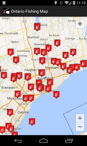 Ontario Fishing Map
