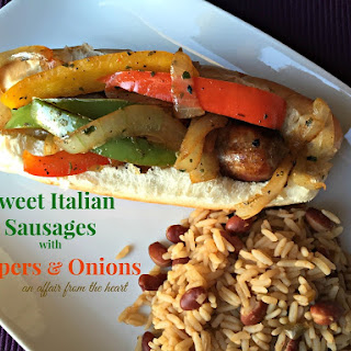 Sweet Italian Sausages With Peppers & Onions.