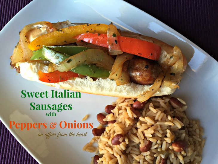 Sweet Italian Sausages with Peppers & Onions Recipe
