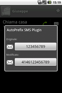 AutoPrefix SMS Plugin - screenshot thumbnail
