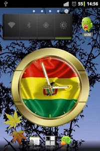 Bolivia flag clocks screenshot 0