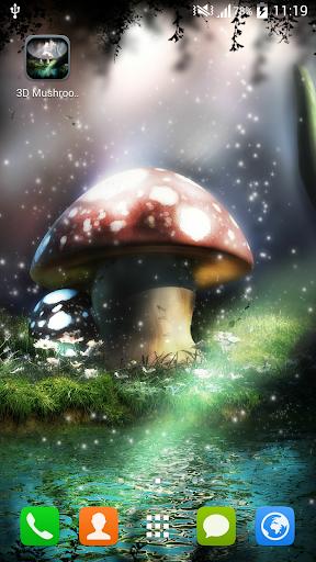 3D Live Wallpaper Mushroom