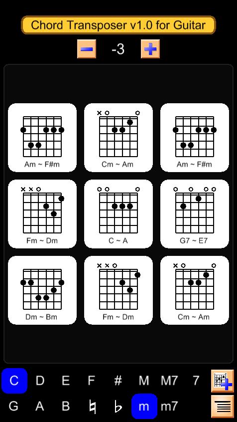 Ukulele ukulele chords flashlight : Guitar Chord Transposer - Android Apps on Google Play