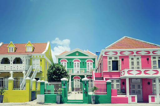 Curacao-Willemstad-houses - The brightly painted houses of Willemstad, Curacao, are world famous.