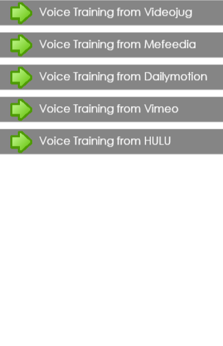 Voice Training For Mobile