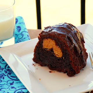Chocolate Peanut Butter Stuffed Cake