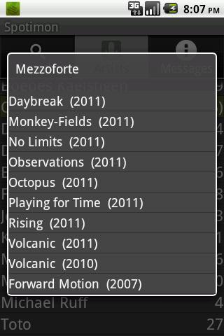 Spotimon- screenshot