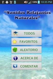 Sonidos Relajantes Naturales- screenshot thumbnail