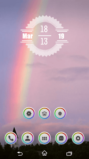 Rainbow Circles Icon Pack
