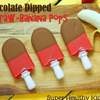 Chocolate Dipped Straw-Banana Pops