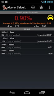 Alcohol Calculator - screenshot thumbnail