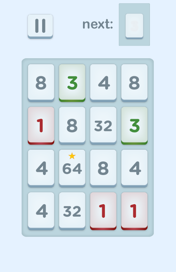 Fours- 2048 Number Puzzle Game- screenshot