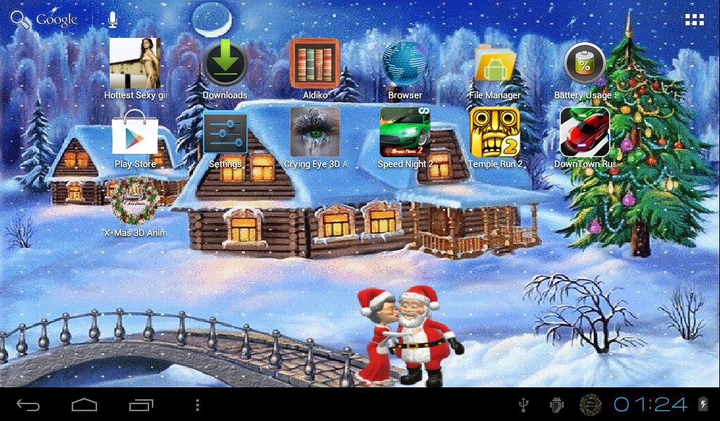 Xmas Animated Live Wallpaper Android Apps On Google Play