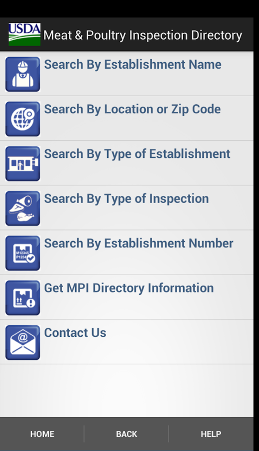 USDA MPI Directory - screenshot