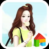 lovely girl hello summer dodol