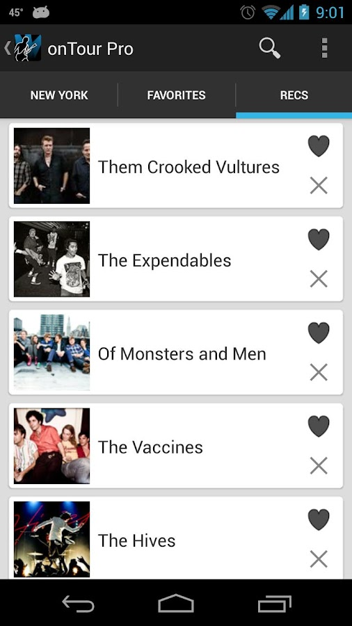 onTour - Concert Finder - screenshot