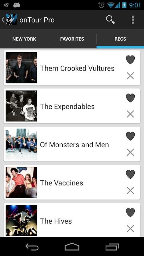 onTour - Concert Finder- screenshot
