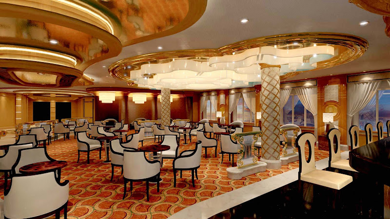 The International Café aboard your Princess cruise offers guests an easy dining option, no matter the time of day or night. (This is a shot aboard Royal Princess.)