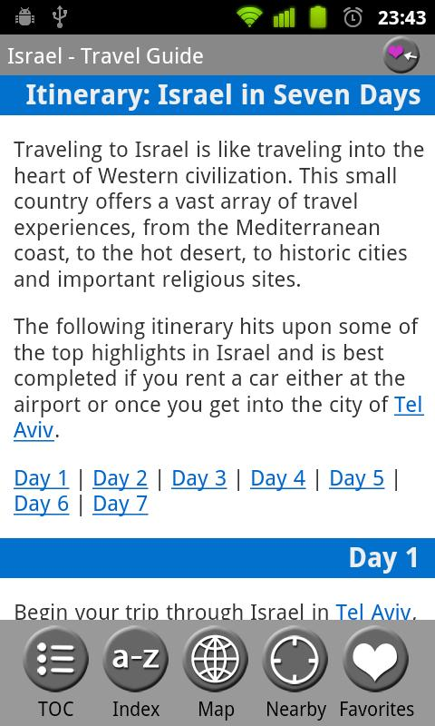 Israel - FREE Travel Guide - screenshot