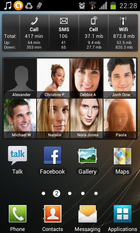 Favorite Contacts Widget Free- screenshot