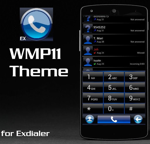Theme for ExDialer WMP