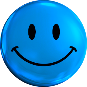Smiley Blue Face Icon Theme