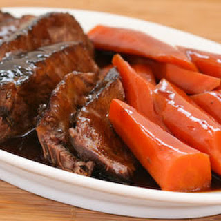 Soy-Braised Pot Roast with Carrots.