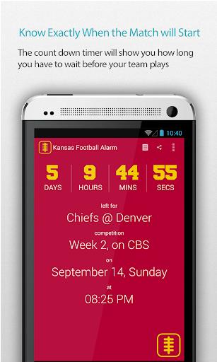 Kansas Football Alarm