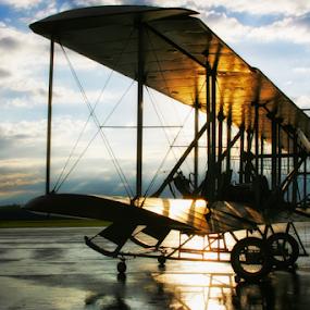 Morning Flight by Jim Crotty - Transportation Airplanes ( calm, jim crotty, airplane, beautiful, scenic, morning, history, flight, sky, ohio, dayton, aircraft, wright brothers, air, transport )