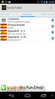 Screenshot of Social Fútbol - Resultados