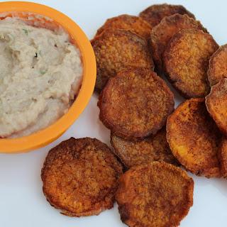 Tuna and White Bean Dip with Sweet Potato Crisps