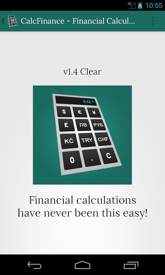 CalcFinance Calculator PRO- screenshot