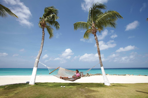 beach-hammock-Aruba - Kicking back on Aruba.