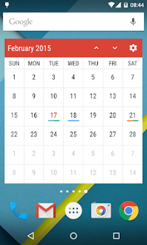Event Flow Calendar Widget