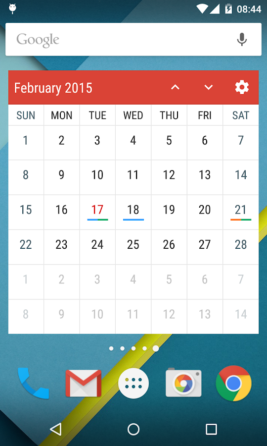 Event Flow Calendar Widget- screenshot