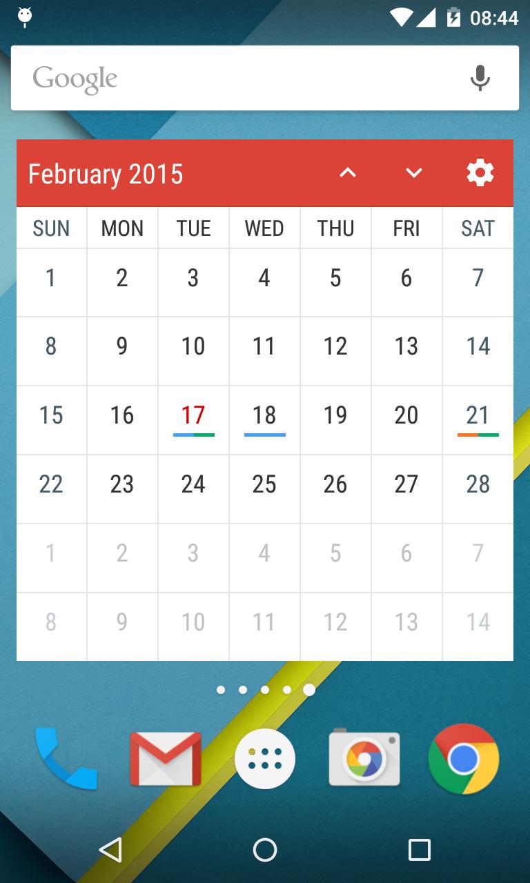 Event Flow Calendar Widget Screenshot 2